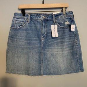 OLD NAVY High-Waisted Raw-Hem Jean Pencil Skirt